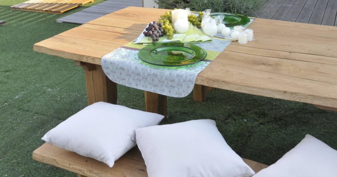 Arredi parchi e tavoli in legno realizzati da Legno Marchetti
